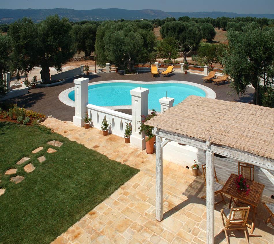 La piscina e i giardini i servizi bed breakfast fasano masseria b b a fasano brindisi in - Giardini con piscina ...